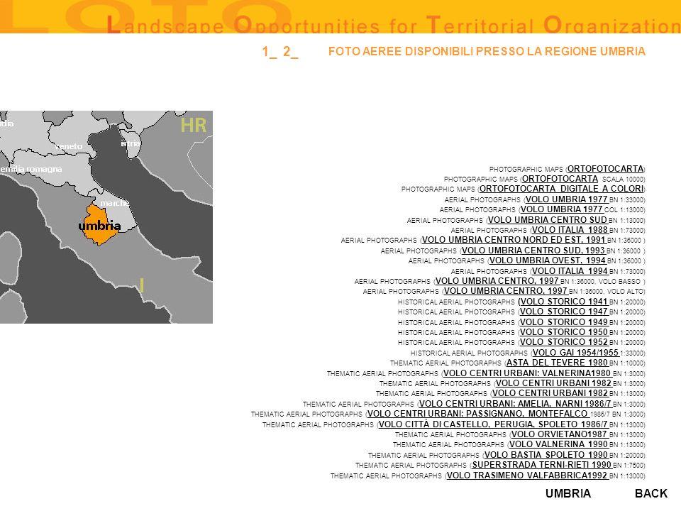 UMBRIA FOTO AEREE DISPONIBILI PRESSO LA REGIONE UMBRIA PHOTOGRAPHIC MAPS ( ORTOFOTOCARTA ) ORTOFOTOCARTA PHOTOGRAPHIC MAPS ( ORTOFOTOCARTA SCALA 10000