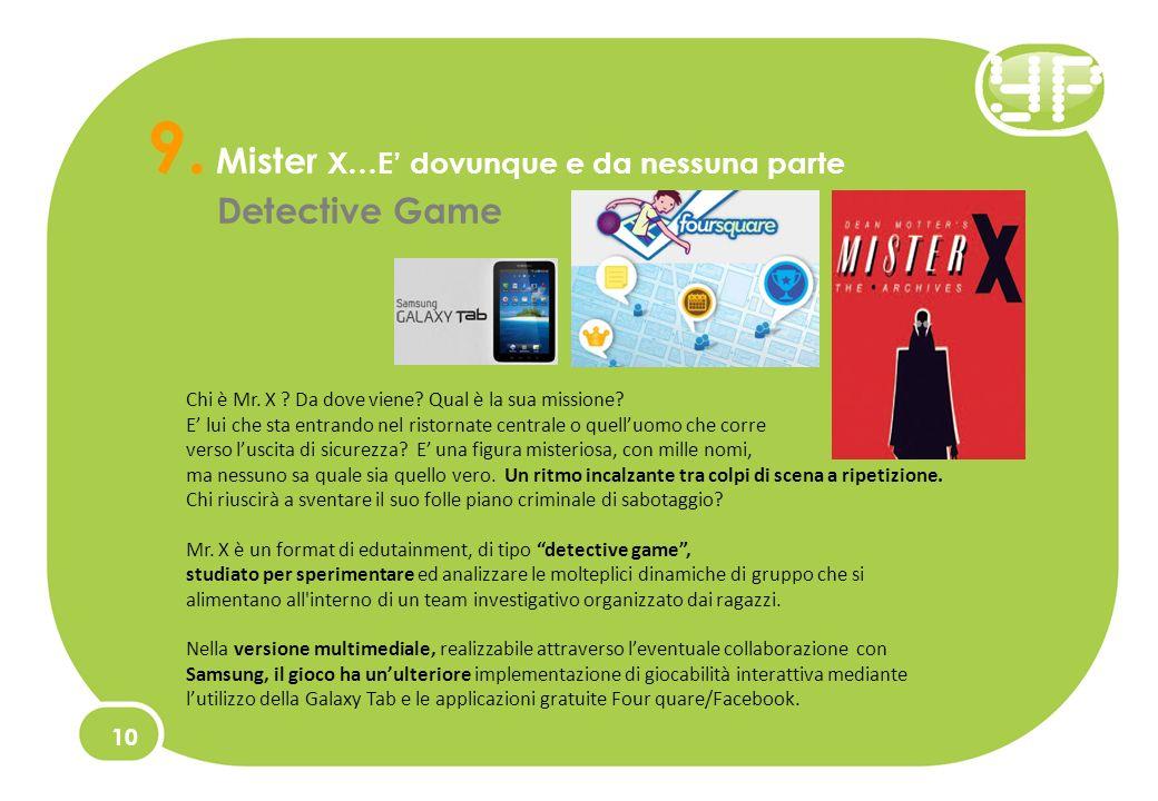 9. Mister X…E dovunque e da nessuna parte Detective Game 10 Chi è Mr.