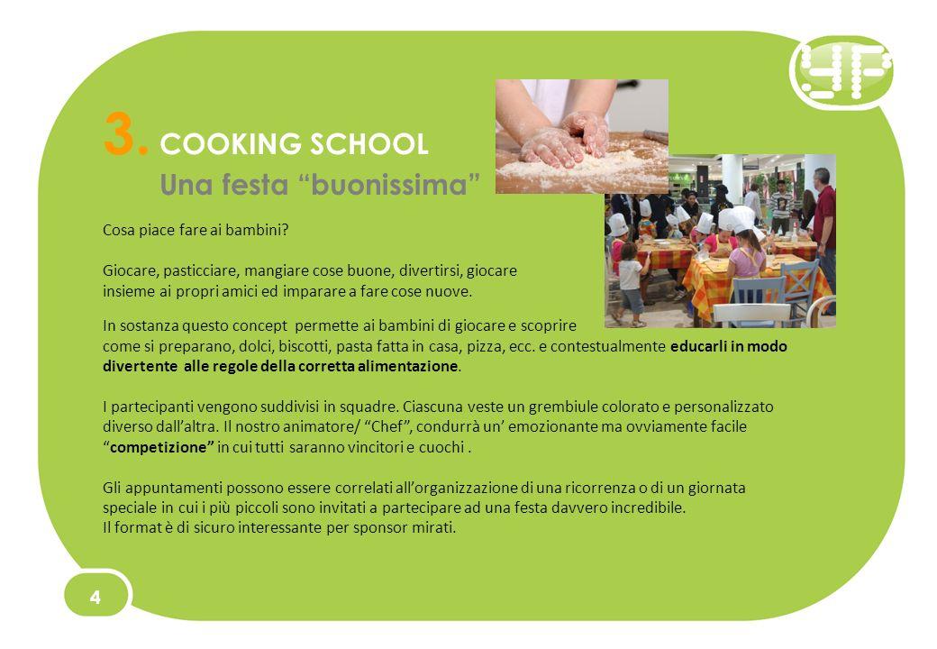 3. COOKING SCHOOL Una festa buonissima 4 Cosa piace fare ai bambini.