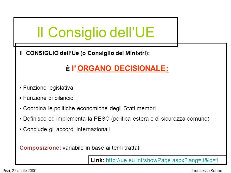 Pisa, 27 aprile 2009Francesca Sanna Dove si trovano le informazioni GUCE (Gazzetta Ufficiale Comunità Europee) Sito web dellIstituzione e/o Agenzia e/o Ente che emana il bando Motori di ricerca specifici (es.