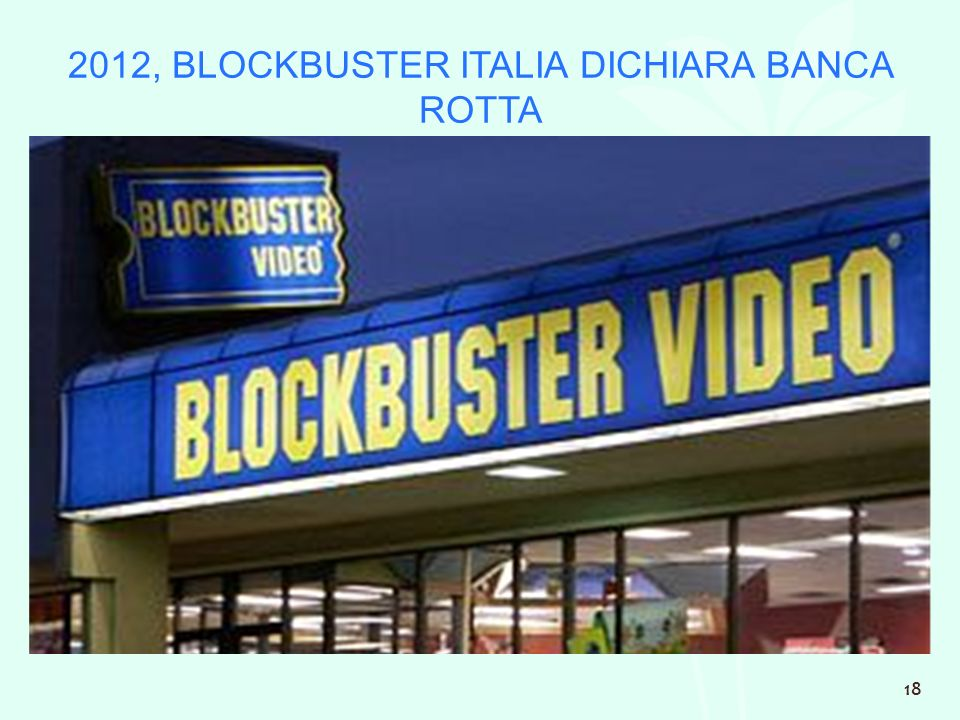 2012, BLOCKBUSTER ITALIA DICHIARA BANCA ROTTA 18