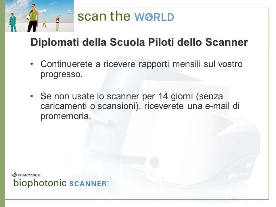 Diplomati della Scuola Piloti dello Scanner Continuerete a ricevere rapporti mensili sul vostro progresso. Se non usate lo scanner per 14 giorni (senz