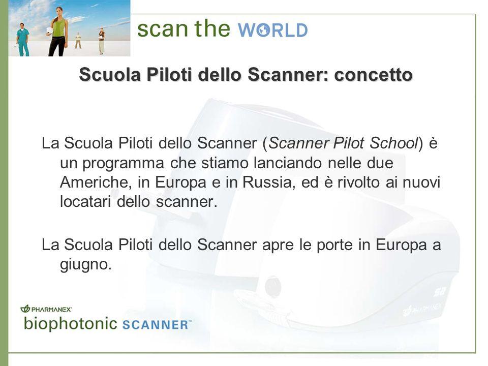 Scuola Piloti dello Scanner: concetto La Scuola Piloti dello Scanner (Scanner Pilot School) è un programma che stiamo lanciando nelle due Americhe, in