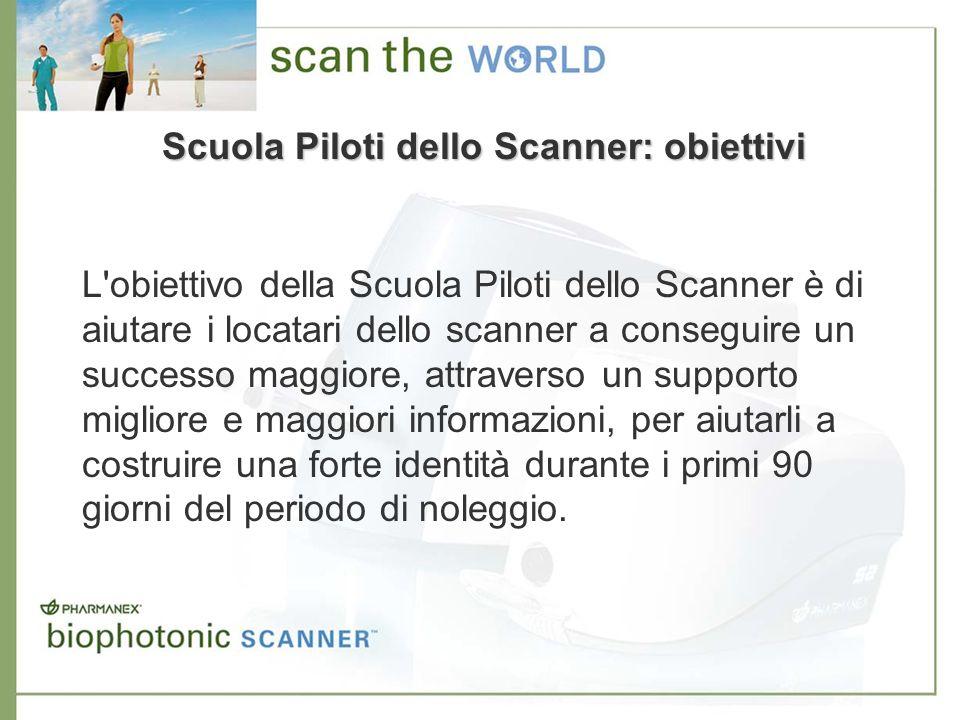 Scuola Piloti dello Scanner: obiettivi L'obiettivo della Scuola Piloti dello Scanner è di aiutare i locatari dello scanner a conseguire un successo ma