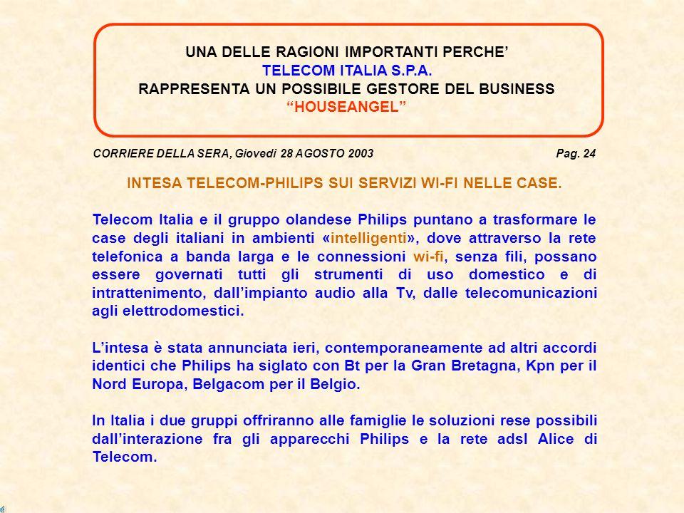 CORRIERE DELLA SERA, Giovedì 28 AGOSTO 2003 Pag.