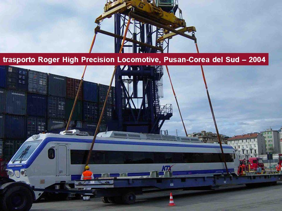 trasporto Roger High Precision Locomotive, Pusan-Corea del Sud – 2004