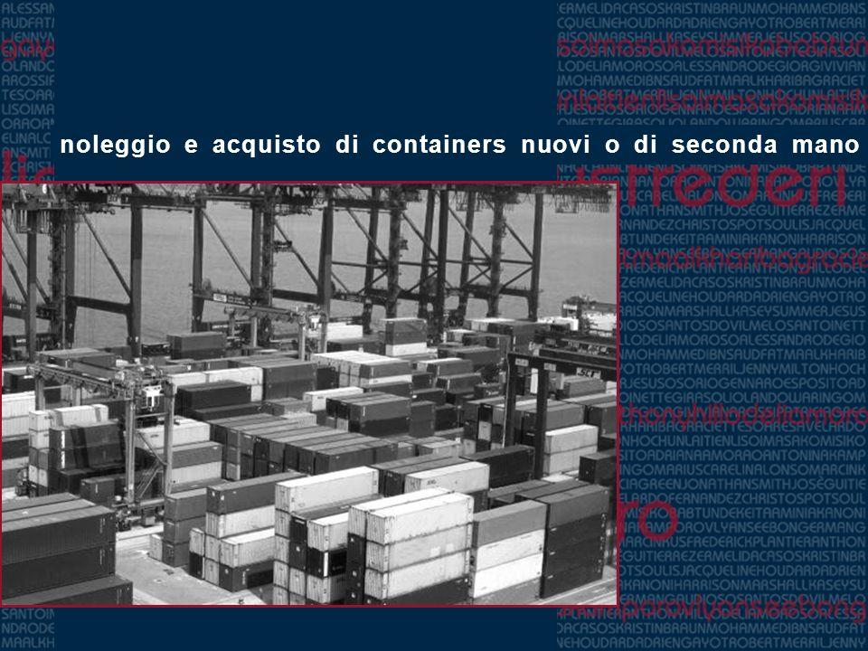 noleggio e acquisto di containers nuovi o di seconda mano