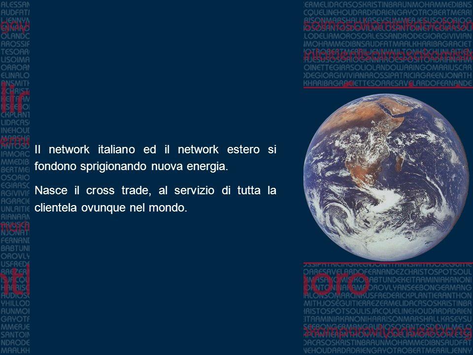 Il network italiano ed il network estero si fondono sprigionando nuova energia. Nasce il cross trade, al servizio di tutta la clientela ovunque nel mo