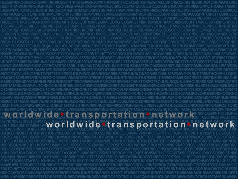 worldwide transportation network