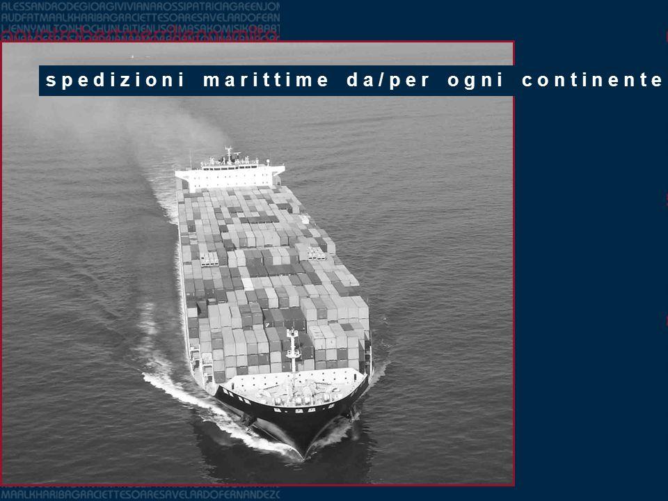 spedizioni marittime da/per ogni continente