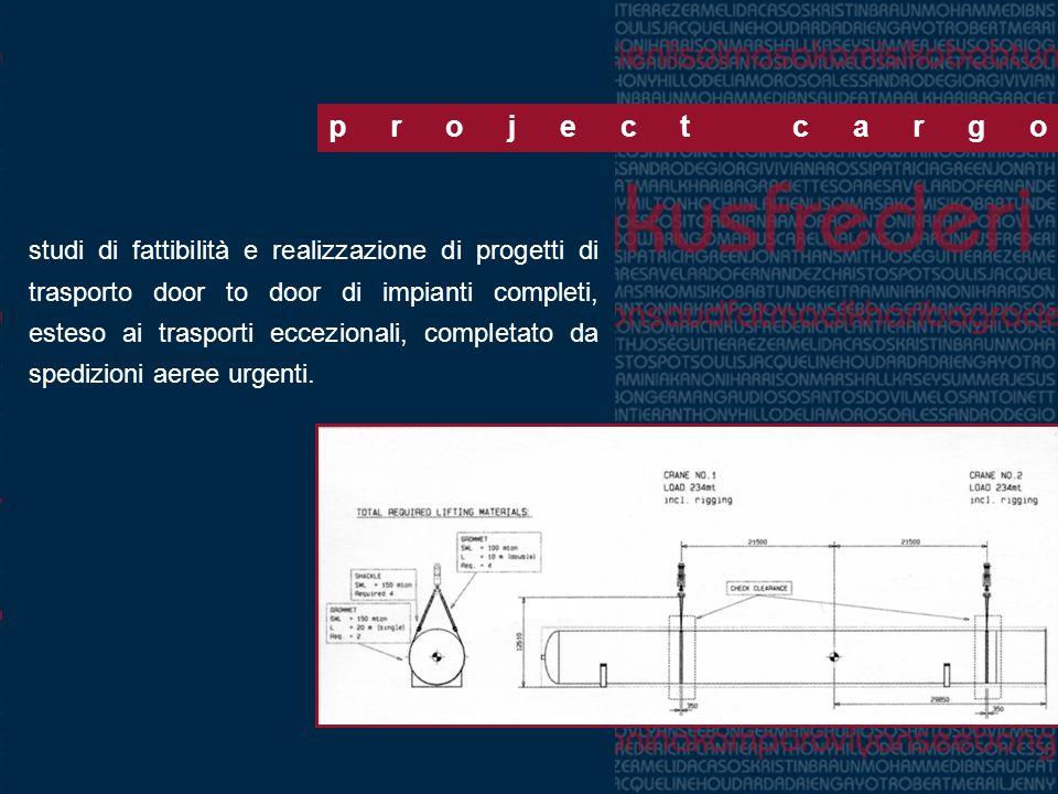 project cargo studi di fattibilità e realizzazione di progetti di trasporto door to door di impianti completi, esteso ai trasporti eccezionali, comple