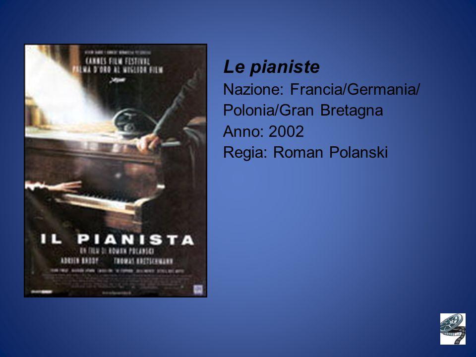 Le pianiste Nazione: Francia/Germania/ Polonia/Gran Bretagna Anno: 2002 Regia: Roman Polanski