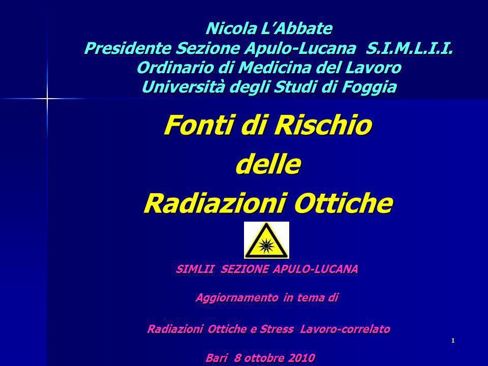 Nicola LAbbate Presidente Sezione Apulo-Lucana S.I.M.L.I.I.