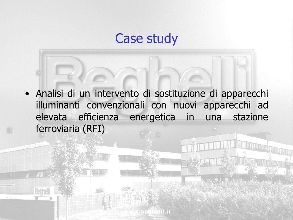 Case study Analisi di un intervento di sostituzione di apparecchi illuminanti convenzionali con nuovi apparecchi ad elevata efficienza energetica in u