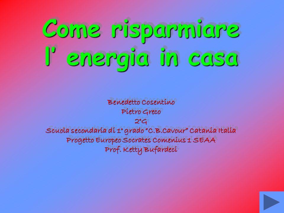 Benedetto Cosentino Pietro Greco 2°G Scuola secondaria di 1° grado C.B.Cavour Catania Italia Progetto Europeo Socrates Comenius 1 SEAA Prof.