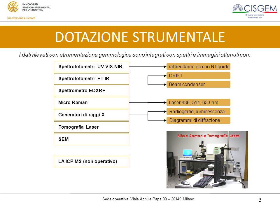 Sede operativa: Viale Achille Papa 30 – 20149 Milano 3 I dati rilevati con strumentazione gemmologica sono integrati con spettri e immagini ottenuti c
