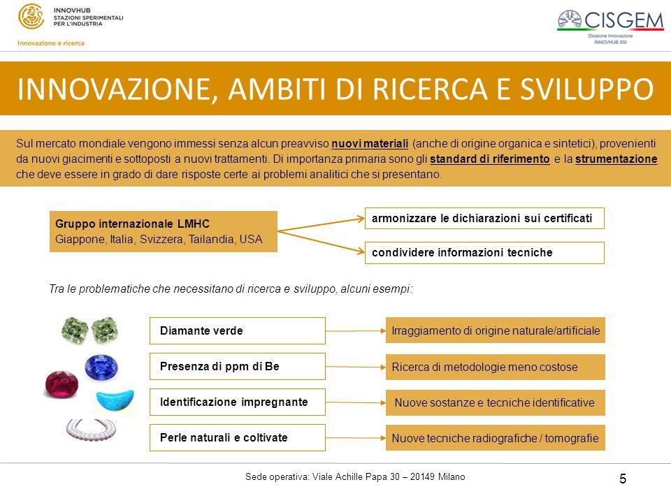 Sede operativa: Viale Achille Papa 30 – 20149 Milano 5 Sul mercato mondiale vengono immessi senza alcun preavviso nuovi materiali (anche di origine or