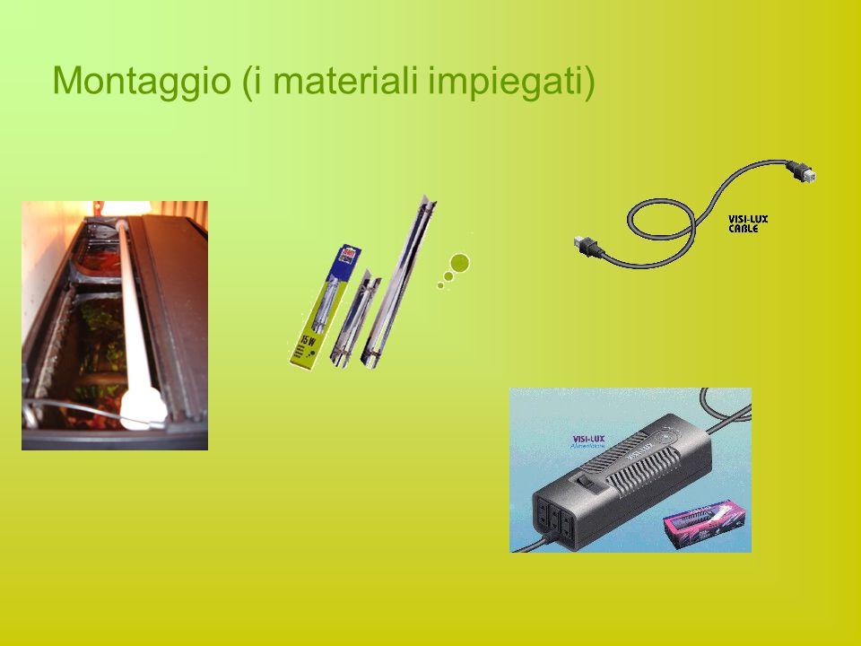 Montaggio (i materiali impiegati)