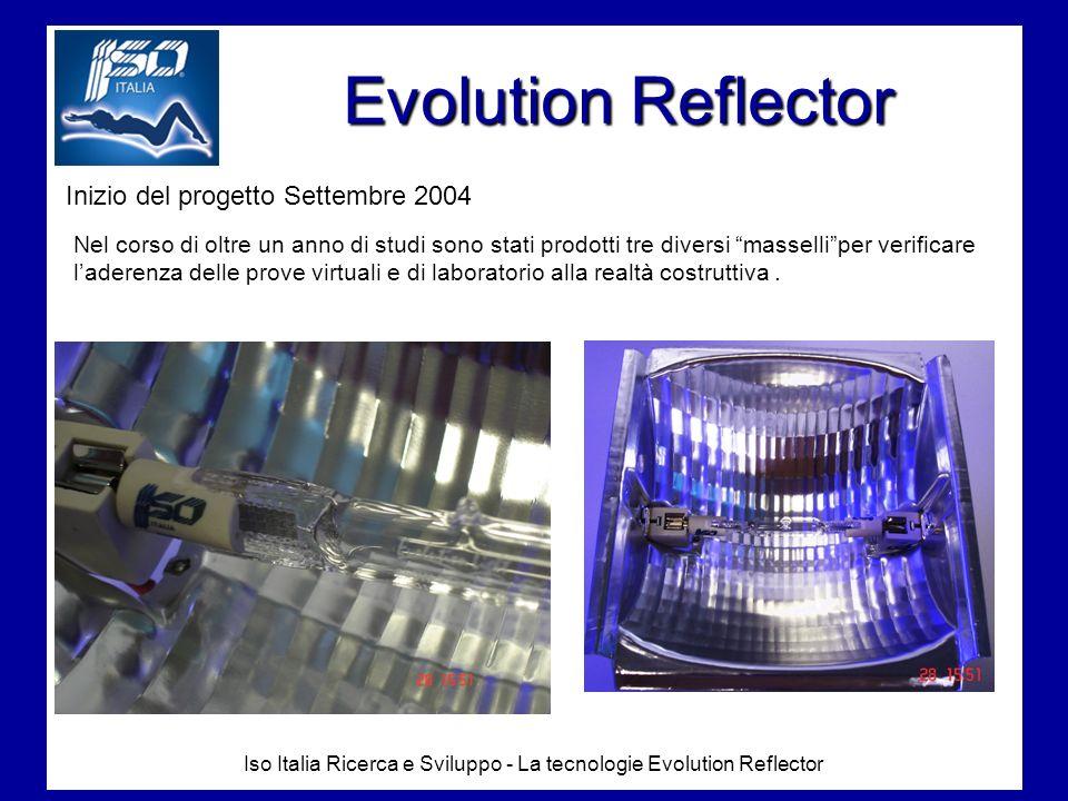 Iso Italia Ricerca e Sviluppo - La tecnologie Evolution Reflector Ad Ottobre 2005 abbiamo dichiarato conclusa la ricerca ed abbiamo cominciato la fase di realizzazzione degli stampi per la produzione in serie dellEvolution Reflector