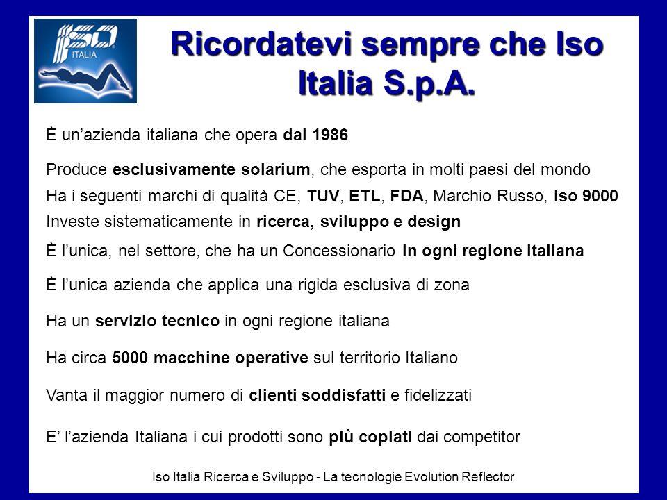Ricordatevi sempre che Iso Italia S.p.A.