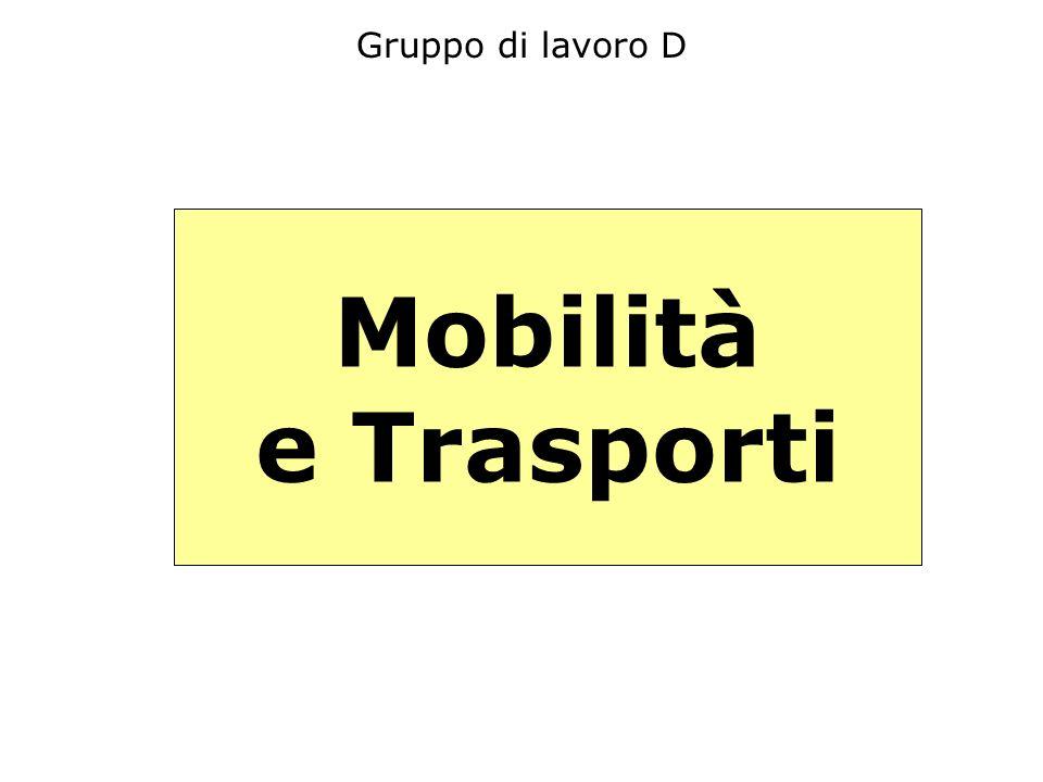 Gruppo di lavoro D Mobilità e Trasporti