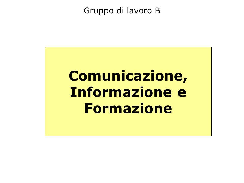 Gruppo di lavoro B Comunicazione, Informazione e Formazione