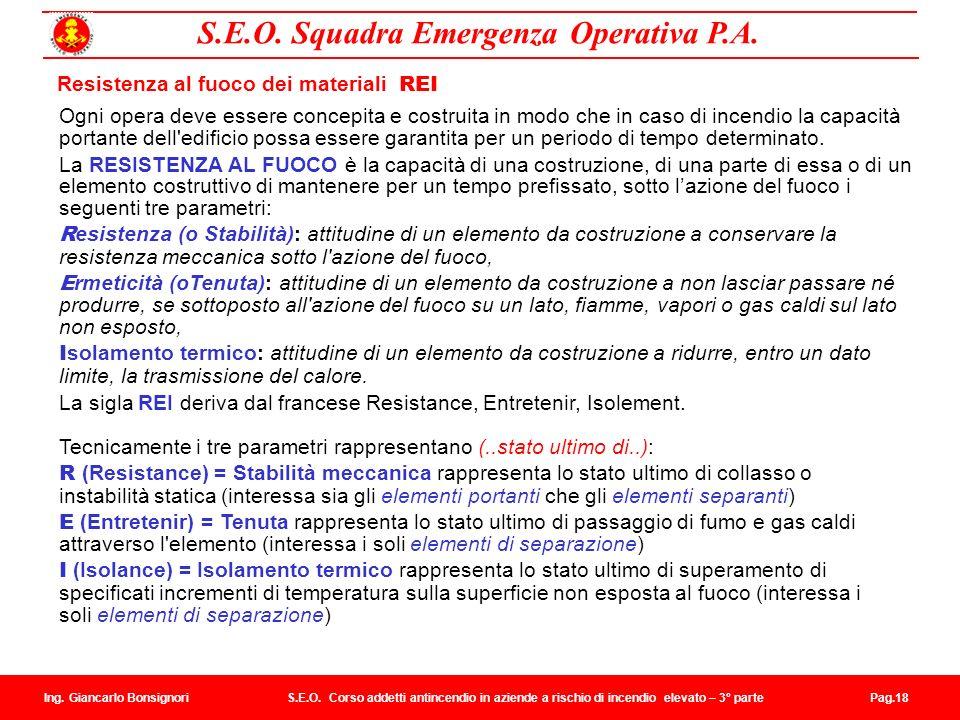 S.E.O.Squadra Emergenza Operativa P.A. Ing. Giancarlo Bonsignori S.E.O.