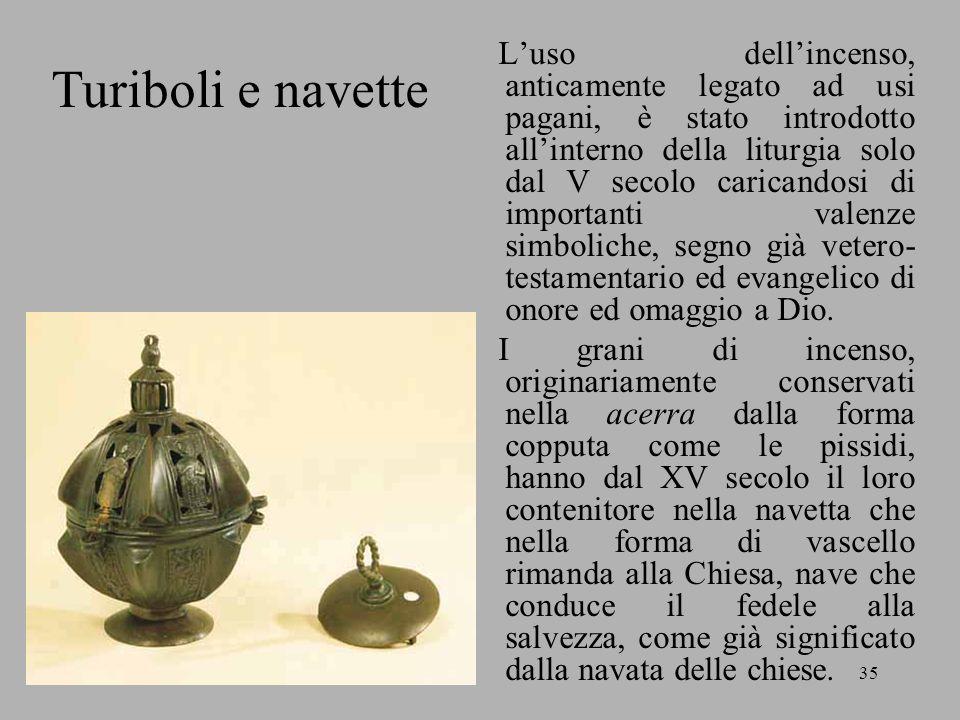 Rita Vadalà35 Luso dellincenso, anticamente legato ad usi pagani, è stato introdotto allinterno della liturgia solo dal V secolo caricandosi di import