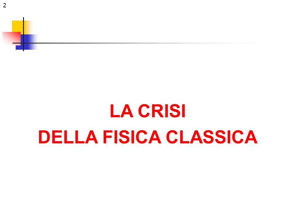 2 LA CRISI DELLA FISICA CLASSICA