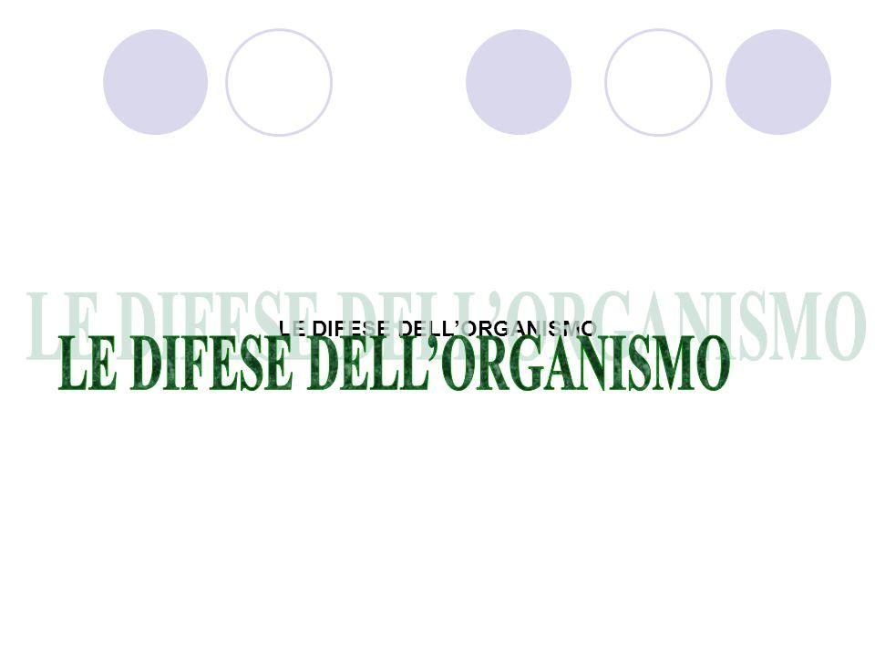 LE DIFESE DELLORGANISMO