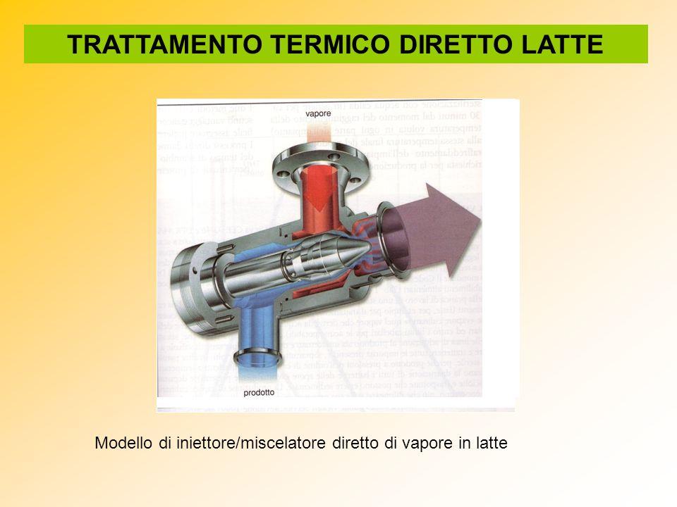 Modello di iniettore/miscelatore diretto di vapore in latte