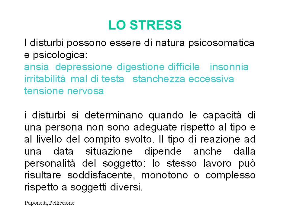 Paponetti, Pelliccione LO STRESS