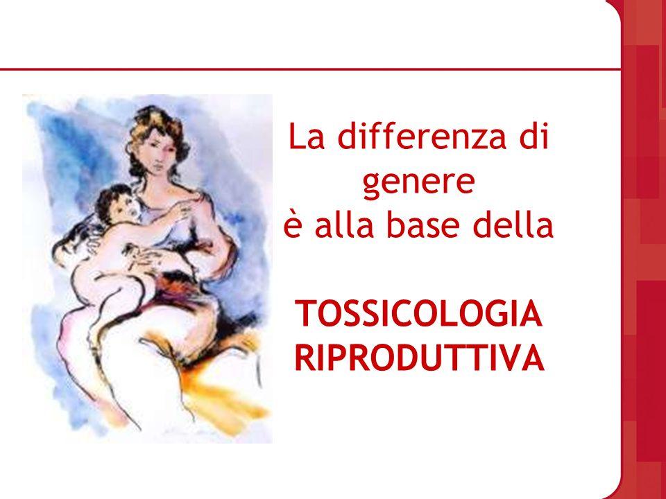 La differenza di genere è alla base della TOSSICOLOGIA RIPRODUTTIVA