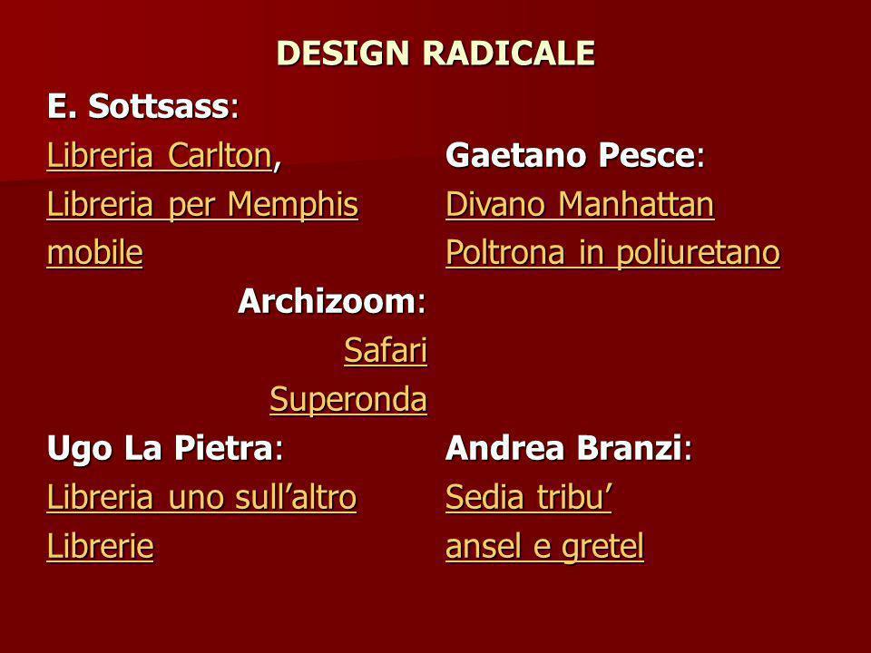 DESIGN RADICALE E.
