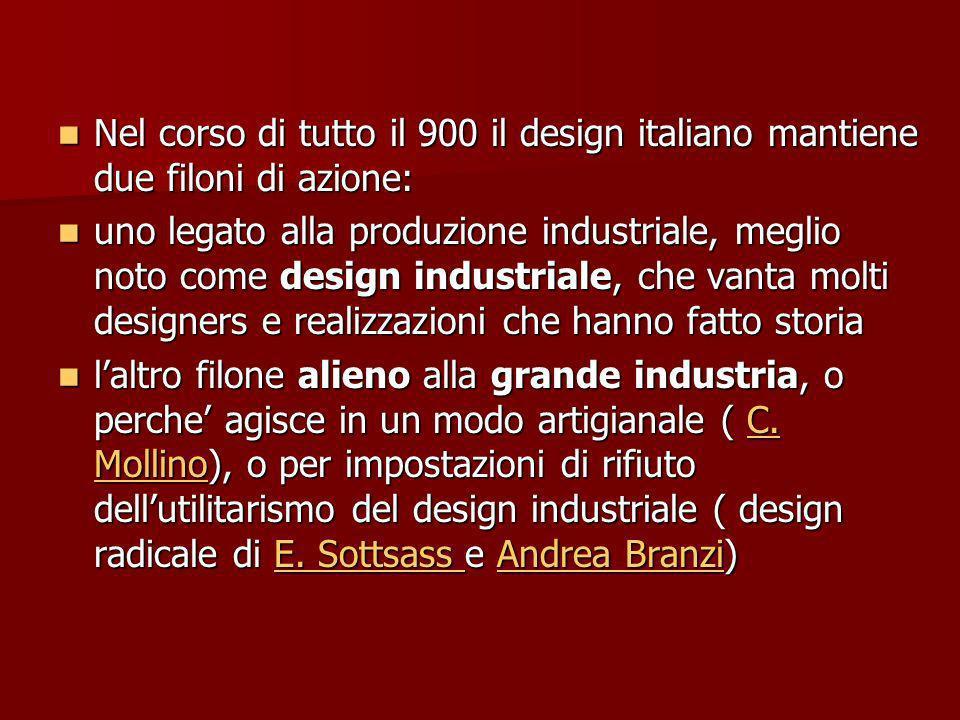 Alcuni casi esemplari: CARLO MOLLINO: Un designer senza industria - Lampade Lampade - Mobili - Mobili- Mobili- - Interni Interni - edifici edifici