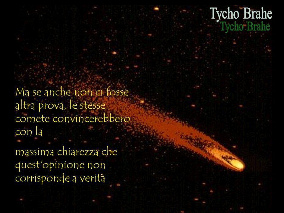 Ma se anche non ci fosse altra prova, le stesse comete convincerebbero con la massima chiarezza che quest'opinione non corrisponde a verità