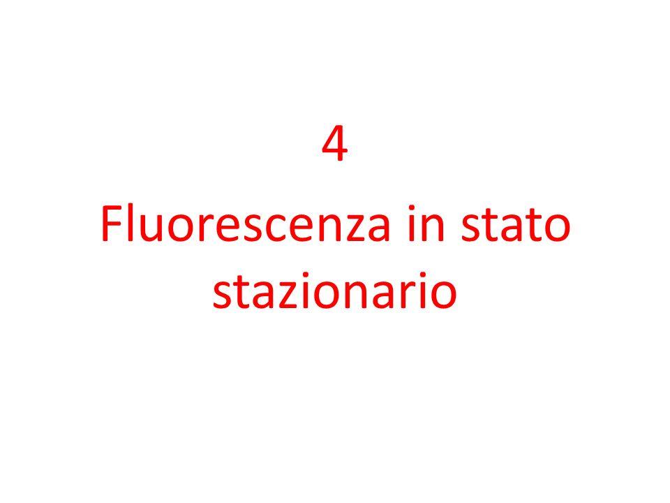 4 Fluorescenza in stato stazionario