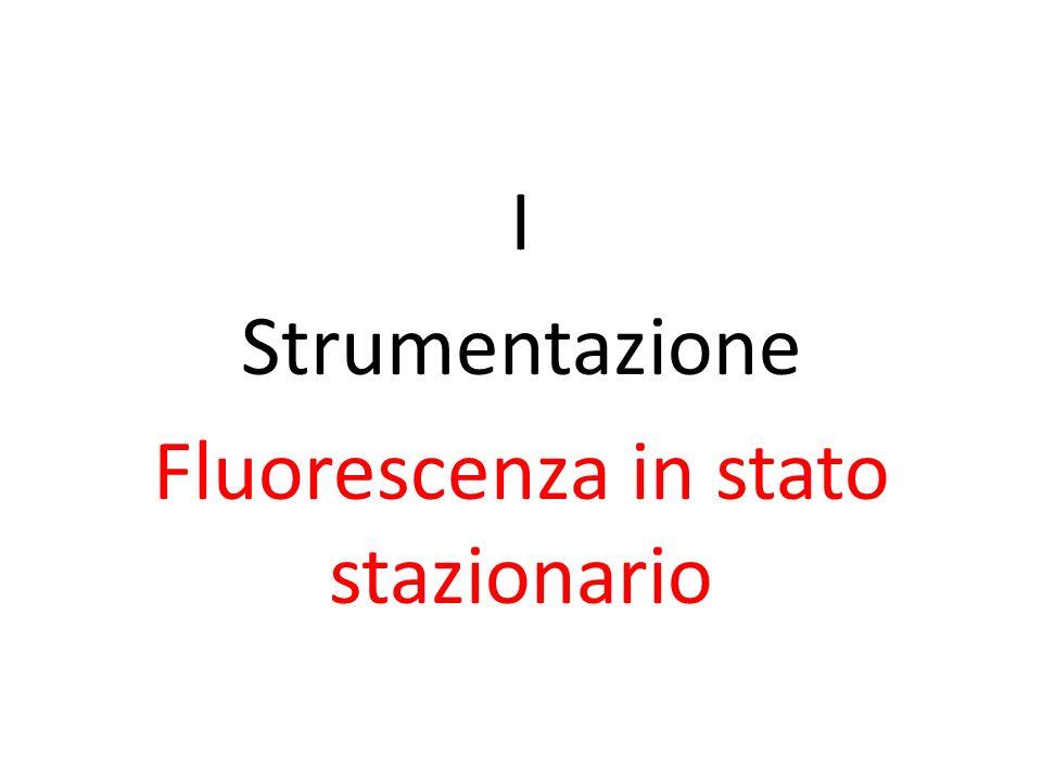 I Strumentazione Fluorescenza in stato stazionario