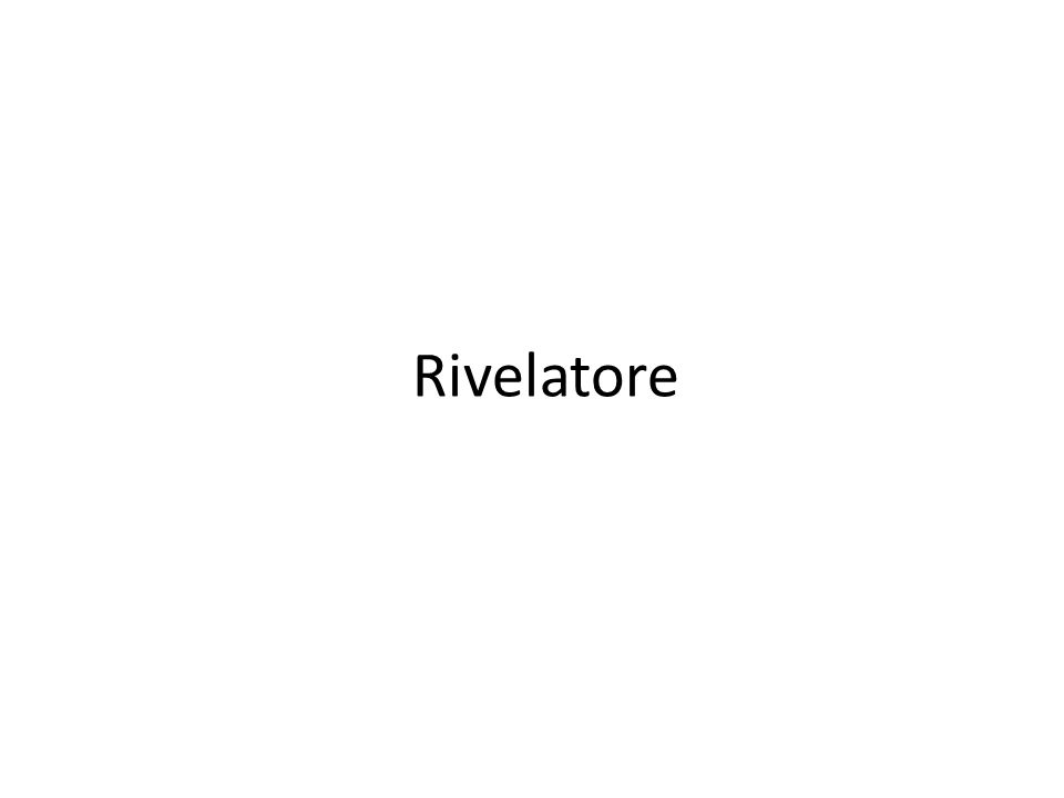 Rivelatore