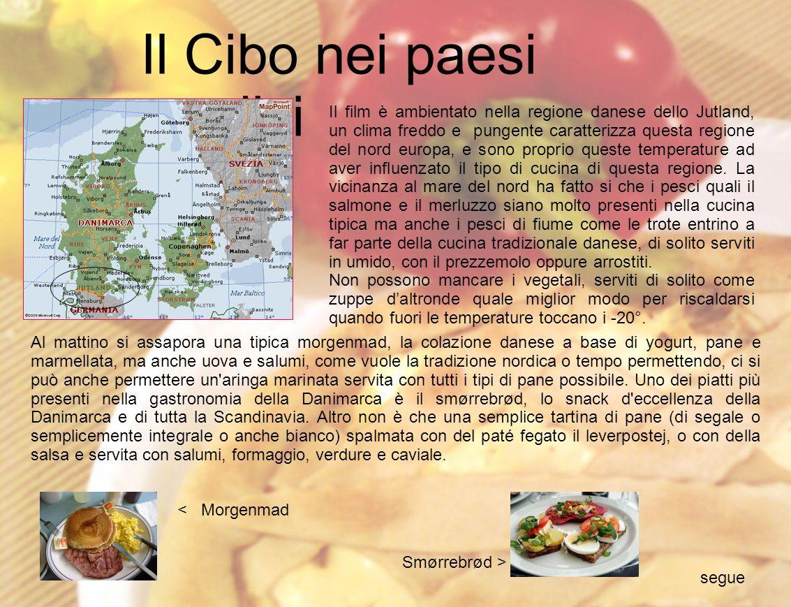 Tra i piatti tipici di una tipica famiglia danese troviamo anche le ottime zuppe: la Alesuppe (zuppa d anguille), la Gronkalsupper (zuppa a base di cavolo verde), la Frugtsuppe (zuppa di frutta preparata con albicocche, prugne secche e mele, servita anche calda come primo piatto, altrimenti fredda come dessert), la Gule ærter (zuppa di fave con pancetta, verdure e pezzi di salsiccia), il Kørvelsuppe (zuppa di cerfoglio accompagnata da uova in camicia), l ottima zuppa Kresesuppe (zuppa d interiora d oca con mele, prugne e gnocchi), la Øllebrød (zuppa dolce di pane e birra), i Kødboller (gnocchi di carne).