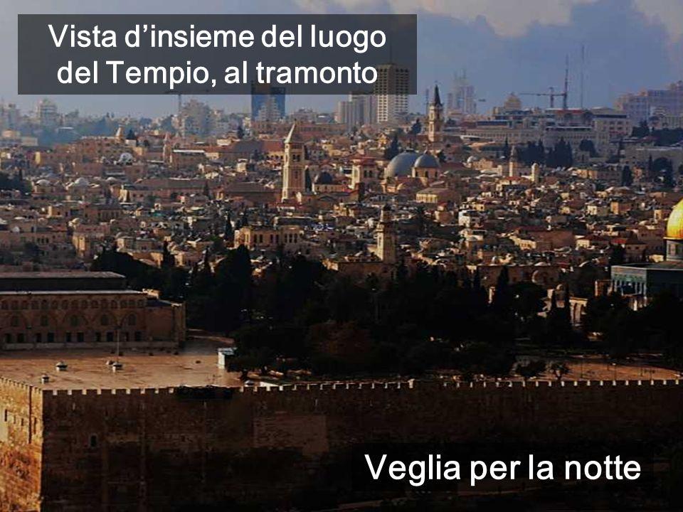 Vista dinsieme del luogo del Tempio, al tramonto Veglia per la notte