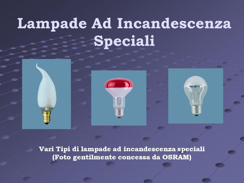 Lampade Ad Incandescenza Speciali Vari Tipi di lampade ad incandescenza speciali (Foto gentilmente concessa da OSRAM)