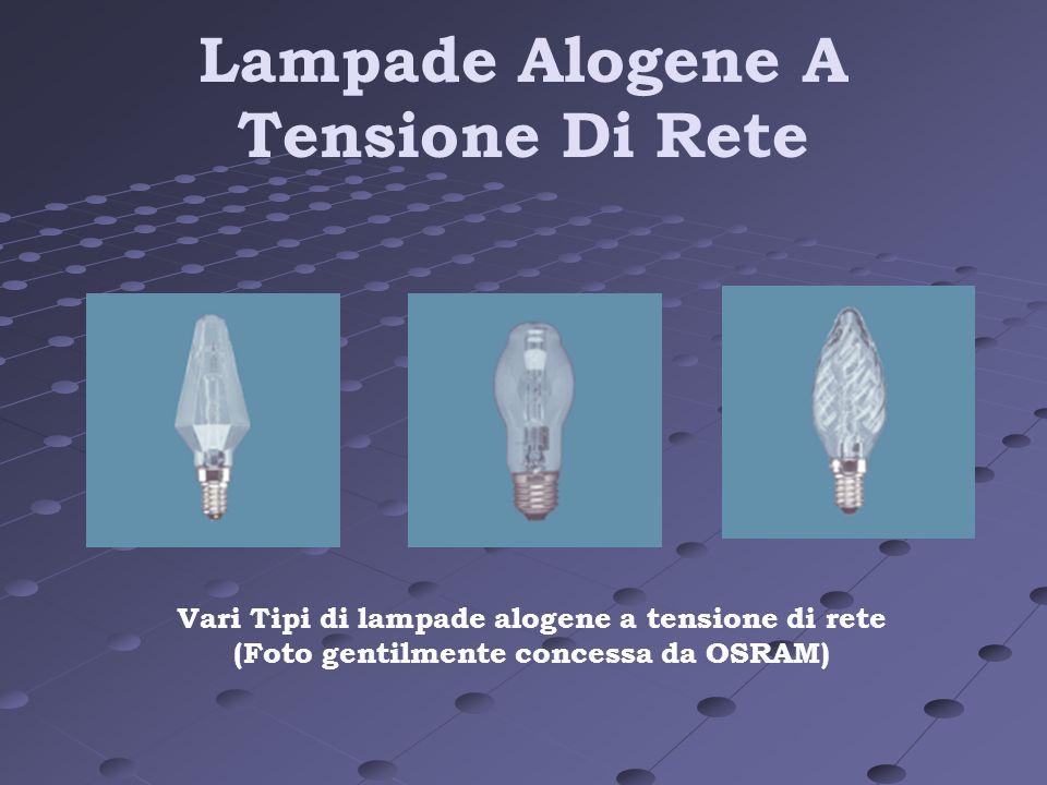 Lampade Alogene A Tensione Di Rete Vari Tipi di lampade alogene a tensione di rete (Foto gentilmente concessa da OSRAM)