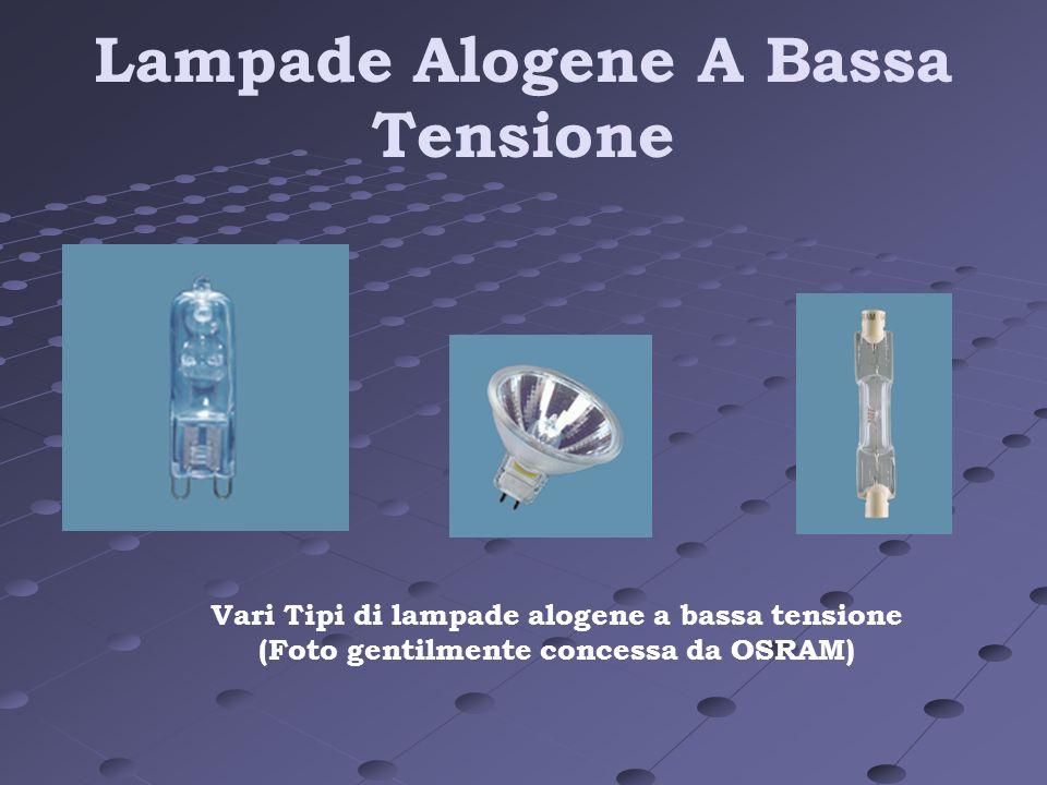 Lampade Alogene A Bassa Tensione Vari Tipi di lampade alogene a bassa tensione (Foto gentilmente concessa da OSRAM)