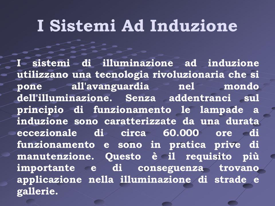 I Sistemi Ad Induzione I sistemi di illuminazione ad induzione utilizzano una tecnologia rivoluzionaria che si pone all'avanguardia nel mondo dell'ill