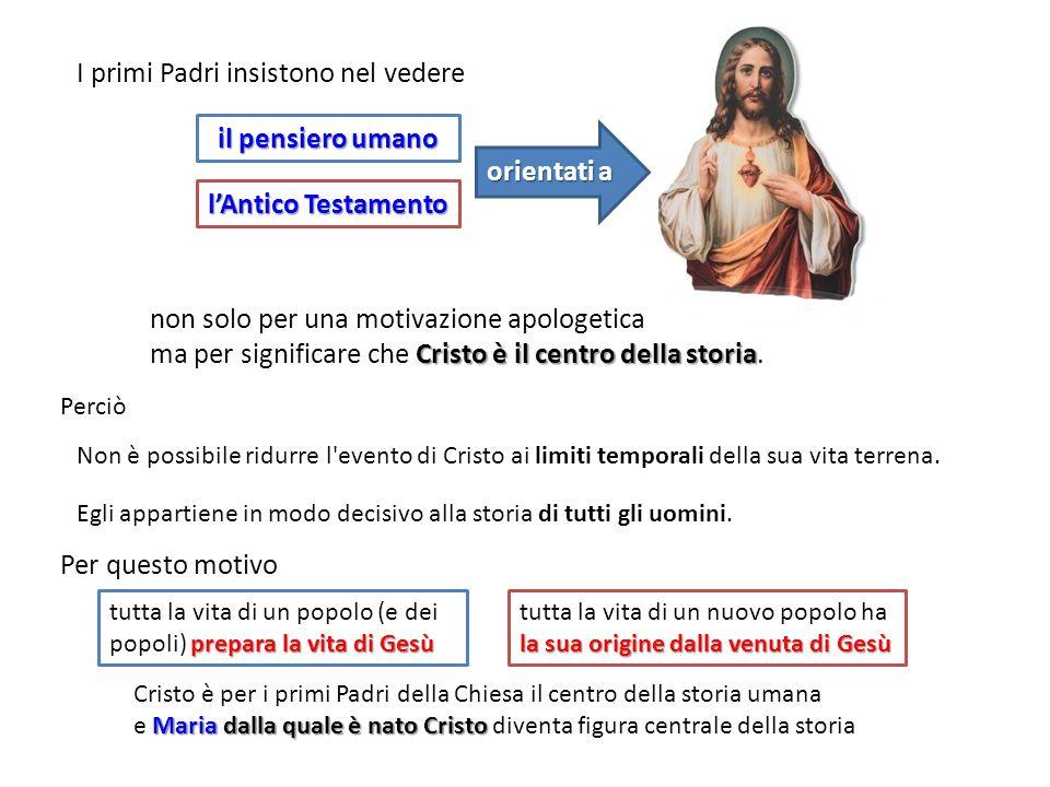Cristo è per i primi Padri della Chiesa il centro della storia umana Maria dalla quale è nato Cristo e Maria dalla quale è nato Cristo diventa figura