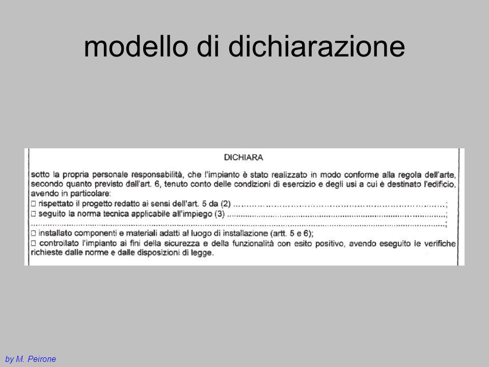modello di dichiarazione by M. Peirone