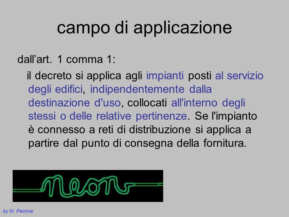 campo di applicazione dallart. 1 comma 1: il decreto si applica agli impianti posti al servizio degli edifici, indipendentemente dalla destinazione d'