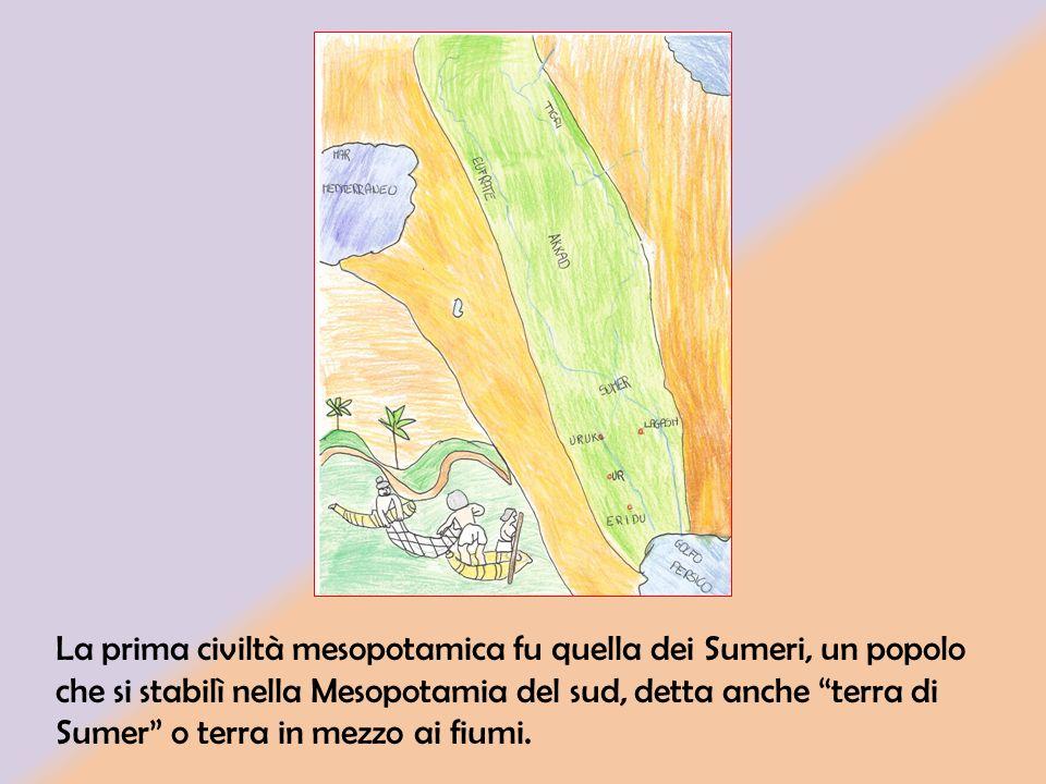 La civiltà dei Sumeri si è sviluppata nel 3500 a.C. ed è durata circa 1400 anni.