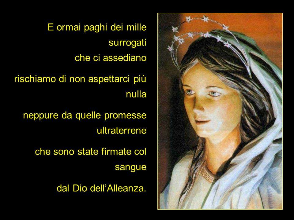 Santa Maria, donna dellattesa, conforta il dolore delle madri per i loro figli che, usciti un giorno di casa, non ci son tornati più.